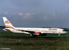 AIR 2000 B757 G-OOOV (Adrian.Kissane) Tags: air2000 b757 shannon gooov 22211 361995 boeing taxiway 757 ireland airliner plane airport sky